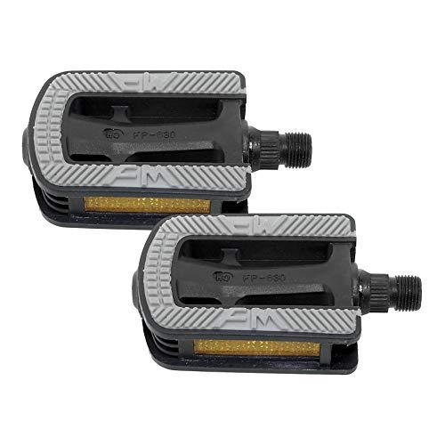 maxxi4you 1 Paar Fahrradpedale Kinderfahrrad Pedale mit Reflektor Baron-Achse
