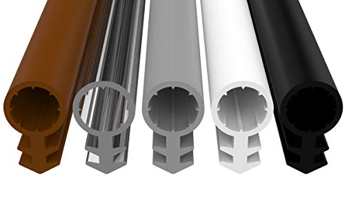 Silikonowa uszczelka premium – uszczelka wykonana z wysokiej jakości silikonu – szerokość rowka 4,5 mm – wąż 8 mm – wysokość uszczelki 12,5 mm – uszczelnienie śrubowe uszczelnienie węża, uszczelka doposażeniowa, drzwi (biała 25 m)