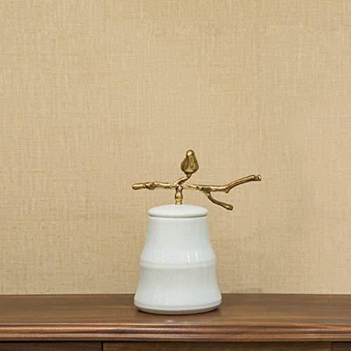 Zfggd Decoraciones de cerámica creativa escultura Pot almacenamiento de la sala de entrada Bodega Inicio decoración de las mesas de TV Vitrina Craft (Tamaño, A), C (Color : A)