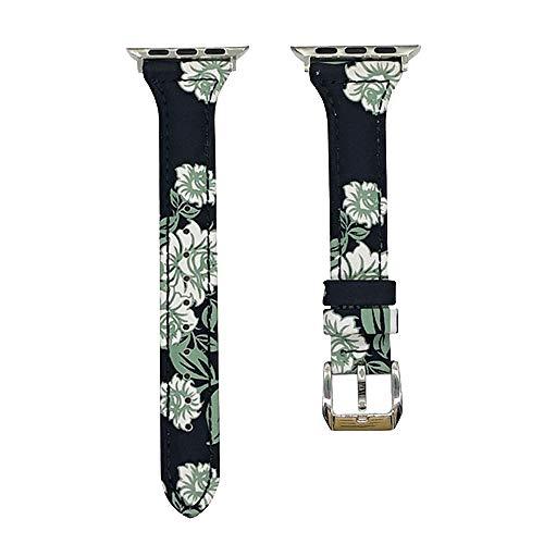 DYH&PW Correa de piel compatible con Apple Watch Band 44 mm 40 mm Compatible con iWatch 42 mm/38 mm Correa de reloj compatible con Apple Watch Series, B, 42 mm 44 mm