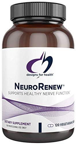 Designs for Health NeuroRenew - 5-MTHF with Vitamin B6 (p-5p), Methyl B12, Acetyl L-Carnitine, B1 (Benfotiamine) + More - Supports Healthy Nerve Function - Non-GMO Supplement (120 Capsules)