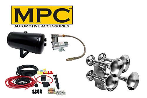 MPC Large Quad Train Horn Kit with Sealed 120 PSI Air System