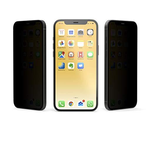 VistaProtect - Filtro de Privacidad Premium, Protector de Pantalla de Vidrio, Película Protectora para Apple iPhone 12 & iPhone 12 Pro