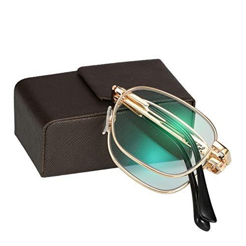 HAOXUAN Gafas de Lectura portátiles Plegables para Hombres y Mujeres, Gafas de...