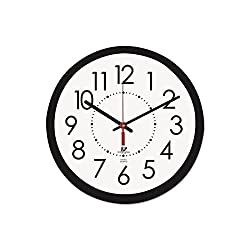 Chicago Lighthouse 14.5 Round Electric Wall Clock, 5' Cord, Plastic Case, Black