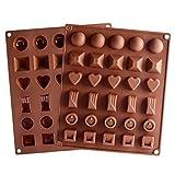 KBstore 2 Stück Silikon 6 Formen Pralinenform mit 30 Hohlraum - Silikonform für Schokoladen Herstellen - Silikon backform für Schokolade/Süßigkeit/Gelee/Eiswürfel #4