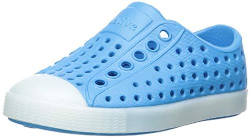Native Kids' Jefferson Glow Child Water Shoe, Wave Blue/Glow in the Dark, 5 Medium US Toddler