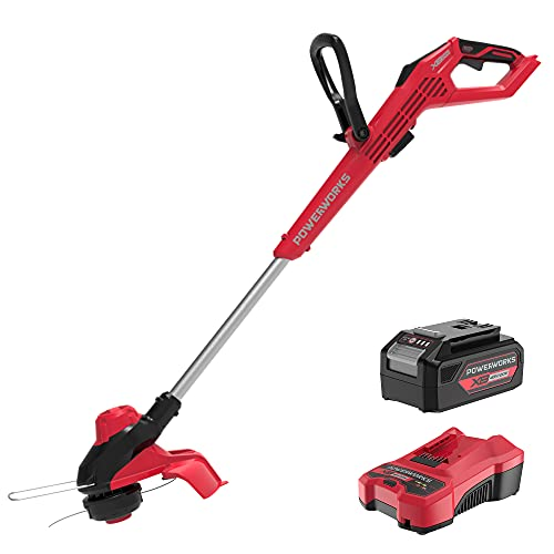 POWERWORKS 20V 13'' String Trimmer, Weed Eater Grass Whacker for Garden and Lawn, 4Ah Battery and Charger Included
