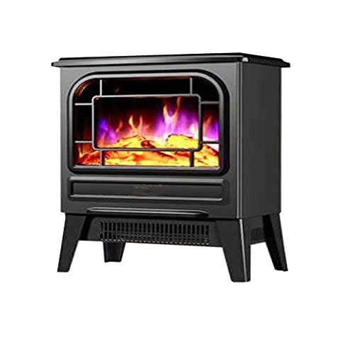 JY&WIN Calentador de Chimenea, Calentador de montaña de Llama 3D, Chimenea eléctrica, Baño doméstico, Dormitorio, Aire Caliente rápido, Ahorro de energía, Calentador de Ahorro de Electricidad, Negro
