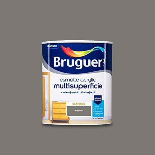 Bruguer Acrylic Multisuperficie Esmalte al agua Satinado Gris Perla 750 ml
