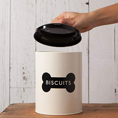 Now Designs Dog Biscuits Tin, Ivory