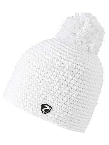 Ziener Erwachsene INTERCONTINENTAL hat Bommel-Mütze / warm, gehäkelt, , weiß (white), Einheitsgröße