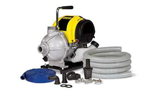 Champion 1-Inch Gas-Powered Water Transfer Pump with Hose Kit