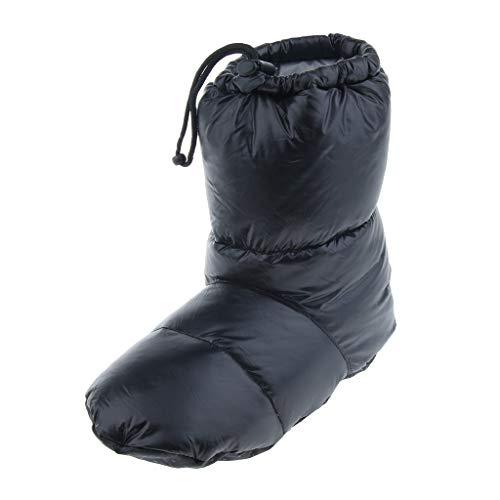 スリッパ 冬暖かい キャンプ テントフットブーツ 全3サイズ - ブラック, L