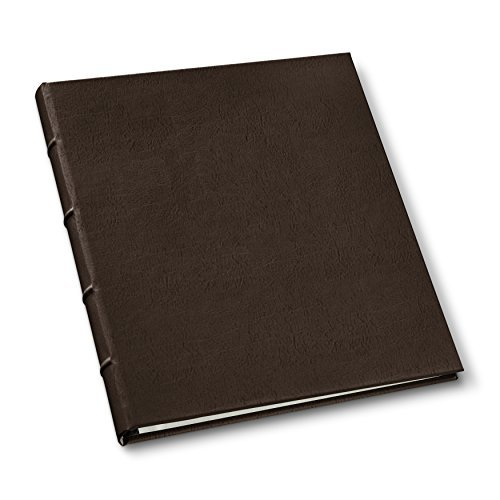 Leather Presentation Binder .75' Hubbed Spine by Gallery Leather - Freeport Mocha