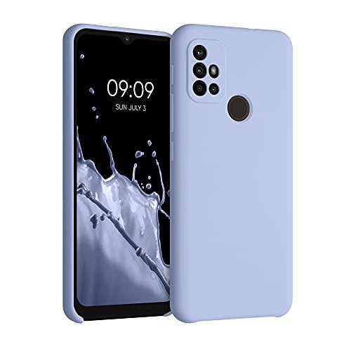 kwmobile Funda Compatible con Motorola Moto G30   Moto G20   Moto G10 - Funda Carcasa de TPU para móvil - Cover Trasero en Azul Claro Mate