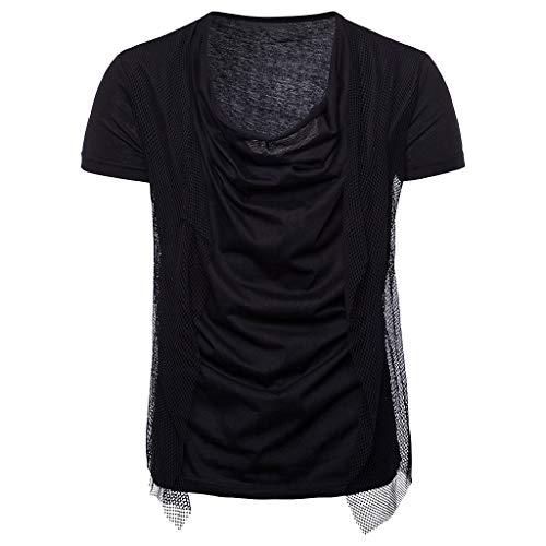 Ouneed- Maglietta Casual Estiva da Uomo a Maniche Corte T-Shirt Tinta Unita Tinta Unita. Maglia Casual da Uomo