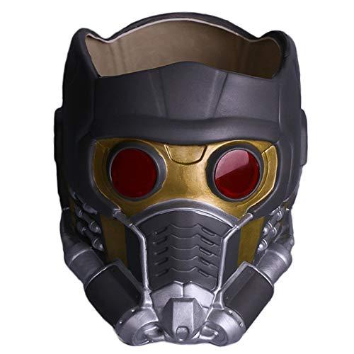QQWE Wächter Der Galaxie Star-Lord Helm Maske Halloween Gesichtsmaske Cosplay Männer Erwachsene Teil Maskerade Kostüm Prop,A-OneSize