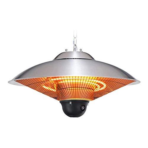 YAMMY Calefacción Radiante Colgante para Zona Exterior Estufa de Infrarrojos de 2500 W con Mando a Distancia Calefacción eléctrica de terraza para balcón-Oficina (Barbacoa)