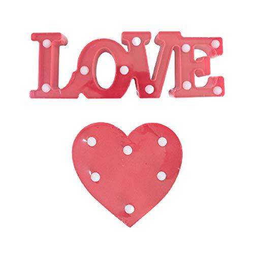 Letras de amor del alfabeto con luces LED iluminadas con letras de amor de pie para colgar en la boda, fiesta de cumpleaños o decoración de pared