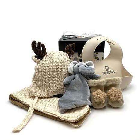 F/ünfteiliges Geschenk Babygeschenk Babym/ütze Mutterschaftspaket Kuscheltuch Babibo Babysocken 5 in 1 Geschenkset Babyl/ätzchen Babyschal Geschenk zur Geburt M/ädchen
