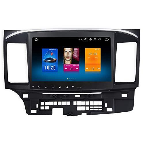 Reproductor Multimedia para automóvil 10.2'Android 10.0 Radio de un Solo DIN para Mitsubishi Lancer EX 10 EVO 2007 a 2017 Bluetooth Estéreo para automóvil GPS WiFi USB Control del Volante 4G RAM 64G
