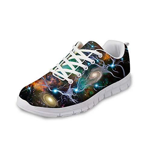 MODEGA Galaxie-Druck-Schuhe bunt schillernde Schuhe entwerfen die Schuhe schnürt einfache Schuhe für Frauen Plus Größe Tennisschuhe Bowlingschuhe Männer Outdoor Größe 45 EU|9.5 UK