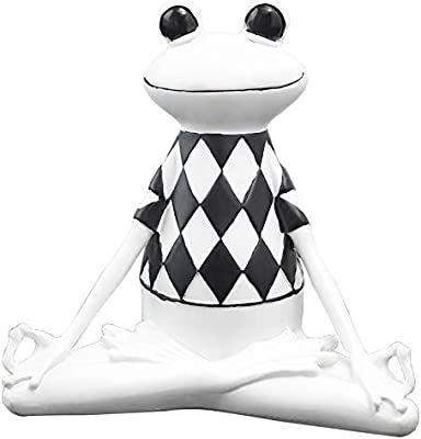 Amazon.com: ZAMTAC Resin Yoga Frog Figurine Namaste Style ...