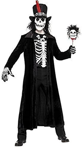 Hommes Voodoo Master Evil death Crane HalFaibleeen Horreur Magie Noire Costume déguiseHommest