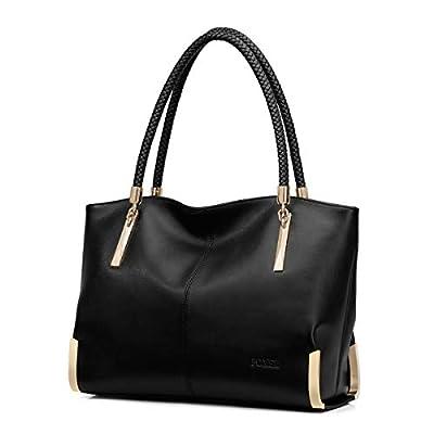 FOXER Women Handbag Leather Tote Purse Shoulder Bag Top Handle Handbags