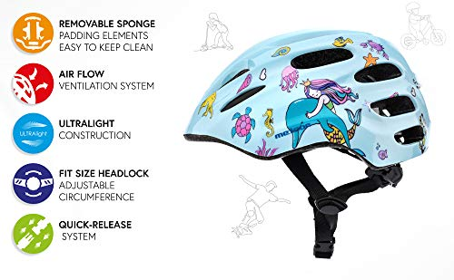 Helmet For Baby Kids Toddler Childrens Boys Cycle Safety Crash Helmet Small Sizes For Child MTB Bike Bicycle Skateboard Scooter Hoverboard Riding Lightweight Adjustable Breathable