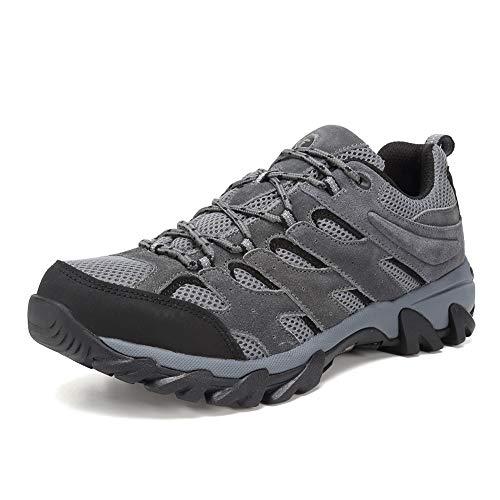FANTURE Men's Lightweight Hiking Shoes Camping Shoes Outdoor Sneakers U419FSYDX002-dark grey-45