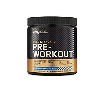 Optimum Nutrition Gold Standard Pre-Workout Vitamin D for Immune Support with Creatine Beta-Alanine and Caffeine for Energy Keto Friendly Blueberry Lemonade 30 Servings  Packaging May Vary