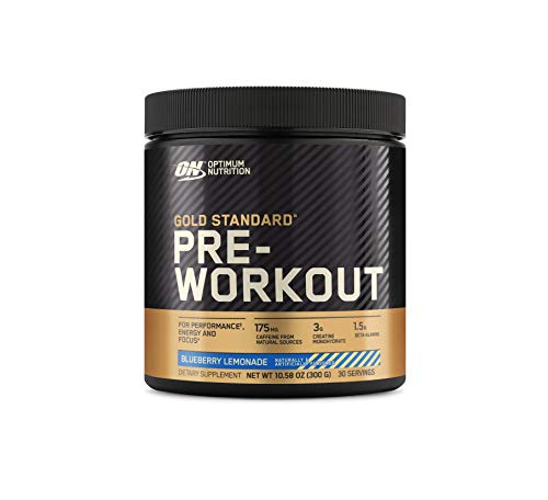 Optimum Nutrition Gold Standard Pre-Workout, Vitamin D for Immune Support, with Creatine, Beta-Alanine, and Caffeine for Energy, Keto Friendly, Blueberry Lemonade, 30 Servings (Packaging May Vary)