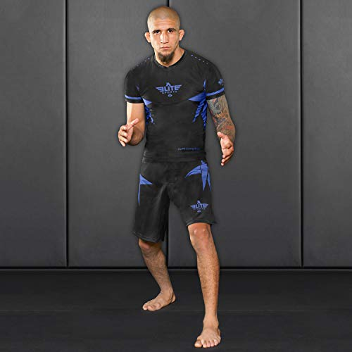 Elite Sports NEW ITEM Star Short Sleeve Compression, MMA, BJJ, No-Gi, Cross Training Rash Guard