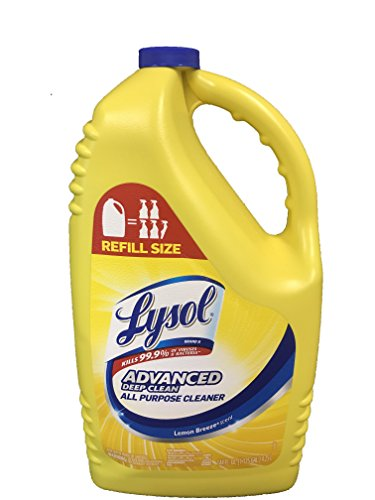 Lysol Disinfectant 144 Ounce Refill Bottle (Advanced Deep Clean Lemon Breeze)