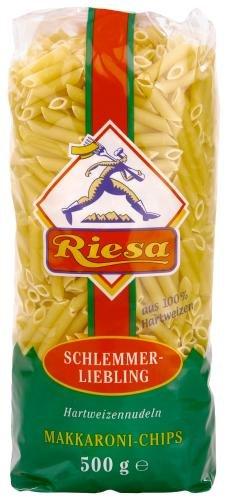 Riesa Riesa Nudeln Makkaroni-Chips, 9er Pack (9 x 500 g Beutel)