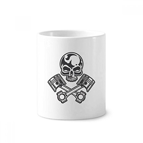 Lights Skeleton Motorcycle Goggles Pattern Ceramic Toothbrush Pen Holder Mug White Cup Christmas Birthday Surprise for Friends Family or Kids,Best Office Cups Morning Mugs