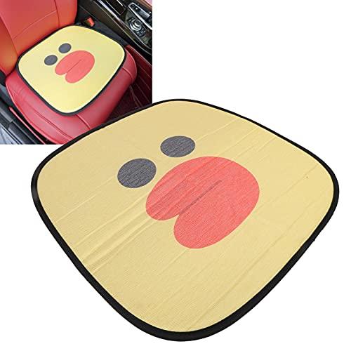 Cojín para asiento de automóvil, material de algodón con almohadilla cuadrada de seda helada con efectos antirradiación para las estaciones Cojín de asiento antideslizante universal