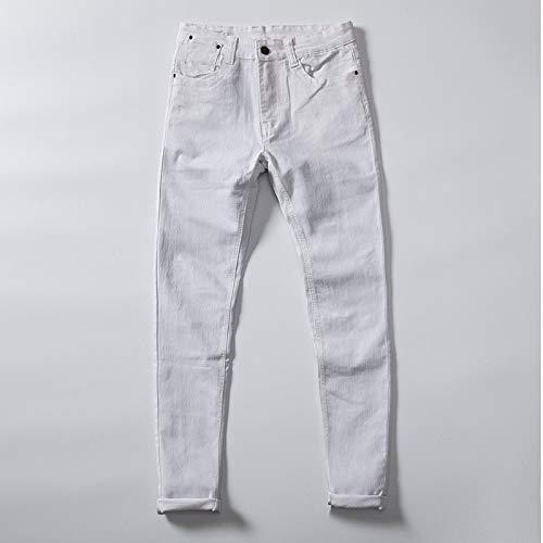 ShSnnwrl Guapo Jeans Vaqueros Pantalon Jeans para Hombres Moda Casual Jeans Ajustados Elásticos Jean
