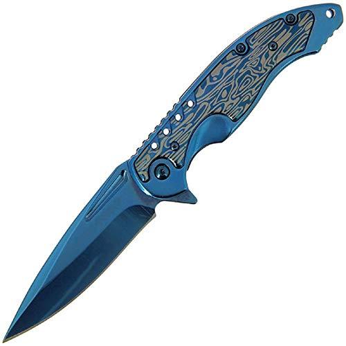 g8ds® Klappmesser 521 Scharfes Outdoor Survival Taschenmesser   Kleines Einhand-Messer   Messer mit Rainbow Edelstahlklinge   für Arbeit Wandern Camping