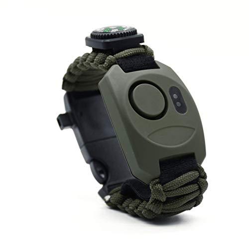 WatchStyle Alarma personal, Watchstyle 130dB Anillo antiano de anillo, hembra, niño y alarma anciana con luz fuerte y luz LED, adecuada para vivir solo por la noche