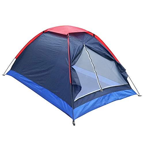 Gesh Tienda de campaña al aire libre para 2 personas de una sola capa resistente al viento impermeable tienda de playa tienda de campaña para pesca, senderismo, montañismo