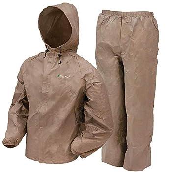 FROGG TOGGS Men s Ultra-Lite2 Waterproof Breathable Rain Suit Khaki Medium