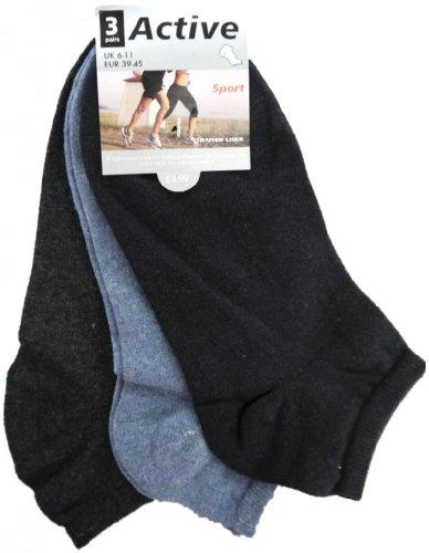 HDUK Mens Socks * Fantastisches Preis-Leistungs * 12PAAR HERREN/JUNGEN Baumwolle, uni Reichhaltige Trainer Liner Socken/UK Größen 6–11(EUR 39–45) & UK 11–14(EUR 45–49) Gr. 40/45 DE, sortiert