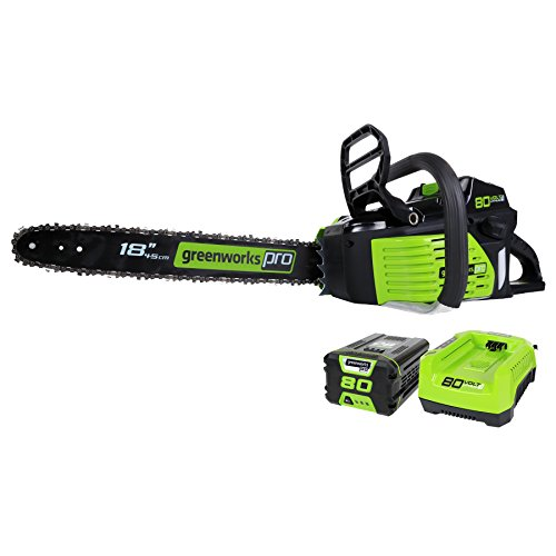 Learn More About Greenworks PRO 18-Inch 80V Cordless Chainsaw, 2.0 AH Battery Included GCS80420