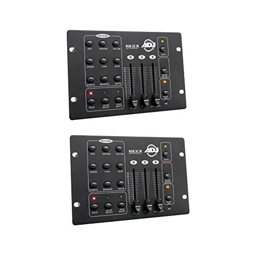 Affordable American DJ Compact 3-Channel RGB LED Effect DMX Lighting Controller (2 Pack)