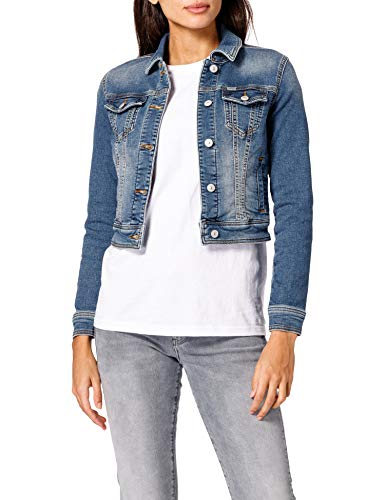 LTB Jeans Damen Destin Jeansjacke, Earth Blue Undamaged Wash 53247, XS