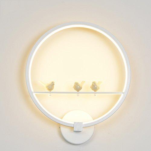 Applique Murale 18 W LED Moderne Creative Chambre À Côté Mur Lumière Intérieur Salon Salle À Manger Couloir Éclairage Décoration (Couleur : Blanc, Edition : La lumière Naturelle)