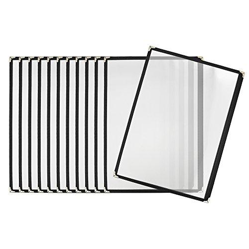 Aspire Menühüllen für 21,6 x 30,5 cm, transparent, 12 / 36 Stück, One size, Schwarz